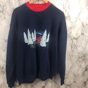 Vintage Jerzees Christmas Sweatshirt Crewneck 2X